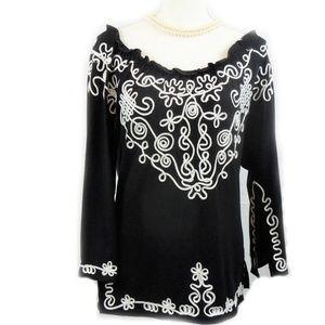 👉 SALE! Embroidered Tunic Split Sleeve
